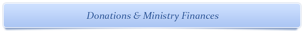Donations & Ministry Finances